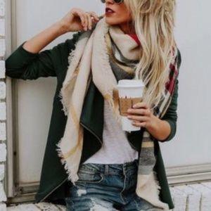 Accessories - Vibrant Plaid Blanket Scarf